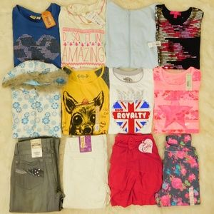 Girls Clothes Lot Size 14/16 Tops Hoodie Jeans NWT